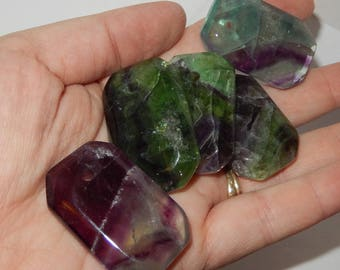 Drilled Rainbow Fluorite - Faceted