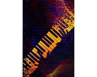 Cool Poster of Hands on Piano Keyboard