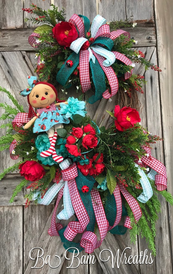 Mothers Day Wreath - Summer Wreath for Door - Mothers Day Gift - Ladybug Wreath - Large Wreath