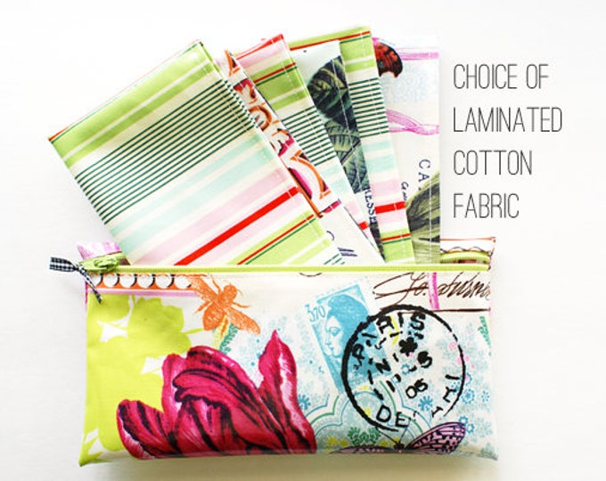 Six cash envelopes in zippered pouch | choice of fabrics