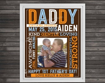 Custom Father's Day Gift - Personalized Father's Day Print - Printable First Father's Day Gift From Daughter - Gifts For Daddy From Son