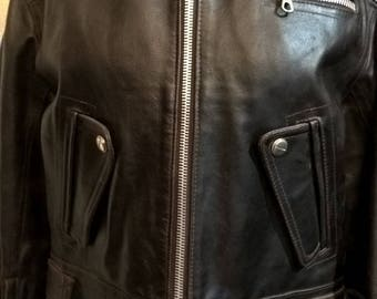 Vintage brown biker jacket from Ride brand HARD By America Made in Italy