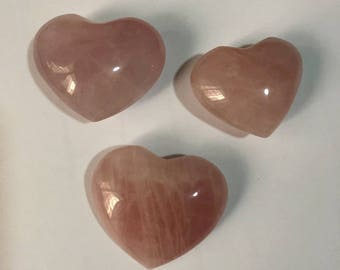 "The Chrysalis Stone Rose Quartz Puff Heart Worry Healing Stone,Single Pack,Approx 1""-2"""