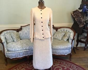 1950s Chenille Boucle Suit / Women's Chenille Boucle Suit / Vintage Suit / Vintage Dress