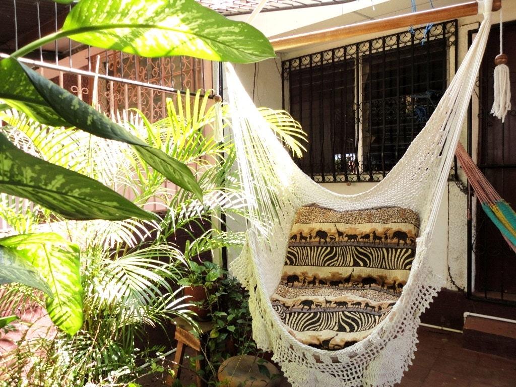 zoom hammock chair white hammock chair hammock with fringe  rh   etsy