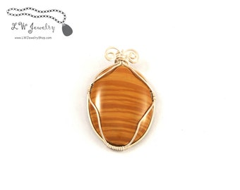 Wire Wrapped Pendant, Scenic  Jasper, Sterling Silver, Pendant, wire pendant, wire wrap, wire wrapping, wire wrapped pendant, necklace, ooak