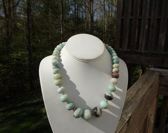 Amazonite Necklace (Graduated Stones)