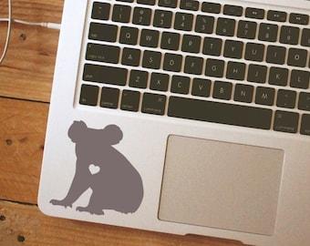 Koala w/ Heart koala sticker koala decal koala laptop sticker Car Laptop Vinyl Decal Sticker