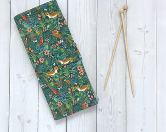 Straight Knitting Needle Case/Knitting Needle Storage/Knitting Needle Case/Knitting Needle Case/Organizer-Jungle Hunter-Made To order