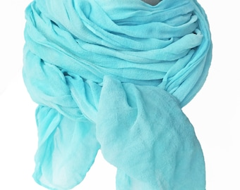 Womens scarves, robin egg blue scarf, aqua scarf, aqua silk scarf, blue silk scarf, blue chiffon scarf, trending now, mothers day gift