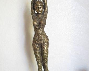Starfish Dancer Art Deco Nouveau Brass Bronze Statue Sculpture Demetre Chiparus Swimmer Synchronized Swimming Water Ballet Female Figure