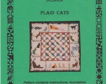 Quilt Pattern - Plaid Cats - A Treehouse Design