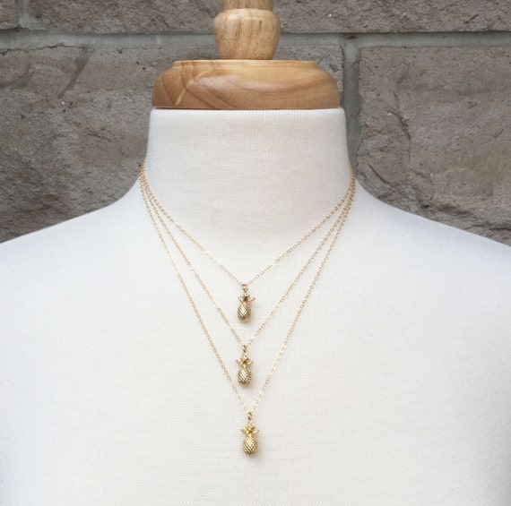 Spike Charm Necklace Dainty Charm Rose Gold Filled Gold