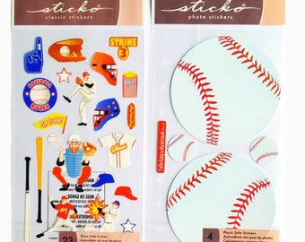 2 packs of stickers from Sticko EK Success 17 x 10 cm creative cardmaking scrapbooking USA Baseball