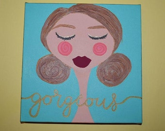 GORGEOUS Original Woman Painting, Small