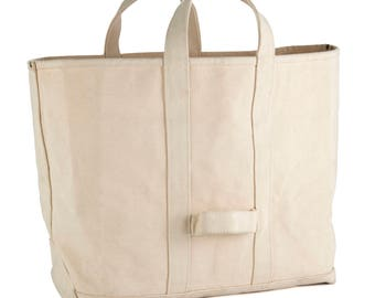 Heavyduty Cotton Canvas Tote Bag | 24 oz Sturdy Canvas | 100% Cotton | Coal Bag, Boat Tote, Firewood Bag | Excellent Rugged Bag