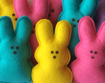 Marshmallow Bunny Easter Ornaments-Easter Decor-Easter Bunny Ornaments-Easter Decorations-Easter Bunny Decorations-Easter-Bunny-Felt