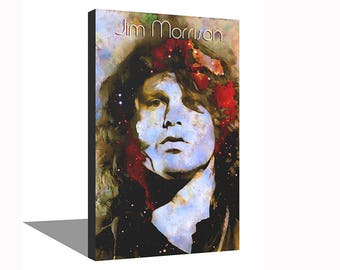 Jim Morrison The Doors 100% Cotton Canvas Print Using UV Archival Inks Stretched & Mounted