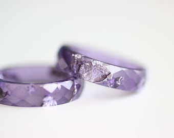 Resin Ring Purple Amethyst