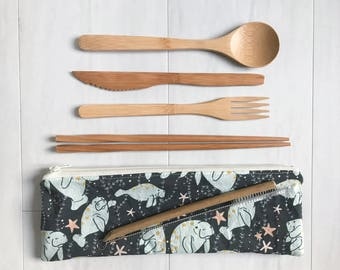 Zero Waste Wooden Utensil Set - Reusable Utensils - Zero Waste Kit