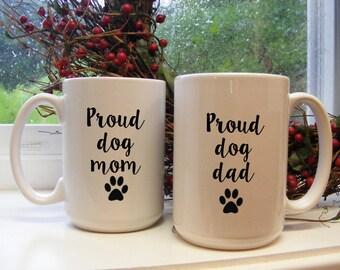 Dog mug, Pet parents, dog gifts for dad, Couple Coffee Mug Set, proud dog dad mom, His And Hers Mugs, Gift for parents, pet parents, dog mug