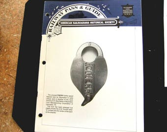Vintage Railroad - Lanterns - Locks - Maps - Histories - Railway Pass & Guide  by Railroadiana Historical Society - Booklet RRH3