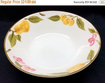 "ON SALE Crest Stone LAGUNA S153 Round Vegetable Serving Bowl Dinnerware Japan Excellent Condition 9 1/2"" in diameter"