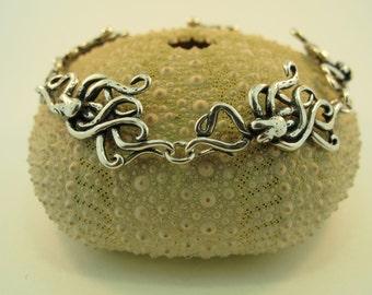 Octopus Bracelet Silver - Octopus Jewelry - Tentacle Bracelet Tentacle Jewelry - Kraken Bracelet Kraken Jewelry - Steampunk Bracelet