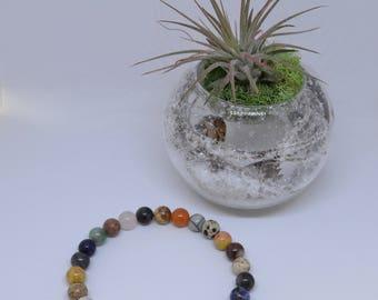 Multicolor Agate Mala Bracelet