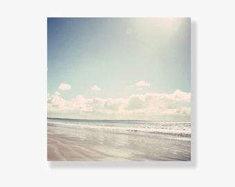 Beach photo canvas art, beach decor, pale blue, beach photography, ocean canvas, blue sky, beach photo canvas - It was a most perfect place