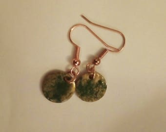 Olive and Gold Earrings