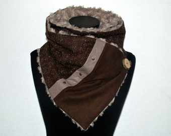 Women scarf winter scarf infinity scarf/fur scarf with button wood/scarf tube/woman/Snood/Scarf/neck winter scarf