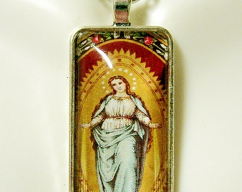 Immaculate conception pendant with chain - AP16-027