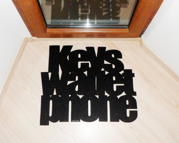 Design Door Mat Keys Wallet Phone Personalized