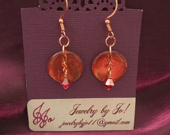 Copper Resin Earrings