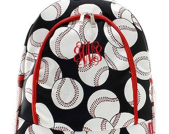 Monogrammed Backpack Personalized Baseball Red Backpack Personalized Backpack Kids Backpack Girls Backpack Boys Backpack