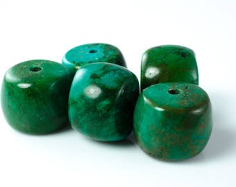 Turquoise Barrel Beads. Turquoise Bead. December Birthstone. Barrel Bead.