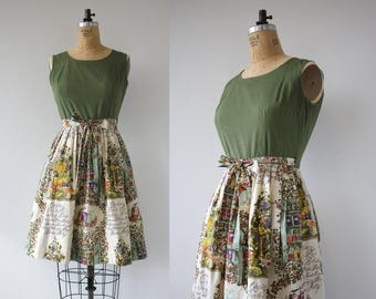 vintage 1960s dress / 60s wrap dress / Swirl wrap dress / 1960s day dress / 1960s house dress / 60s novelty print dress / medium large