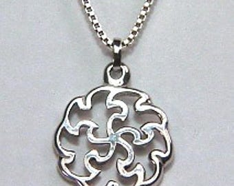 Custom Five Doves Pendant - Available In All Metals - Sterling Silver Includes Chain