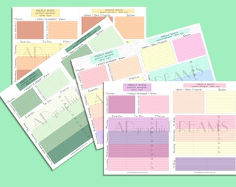 Customized Weekly planner. Printable colored weekly planner. Customized Weekly plan. Weekly organizer. Customized weekly planner printable.