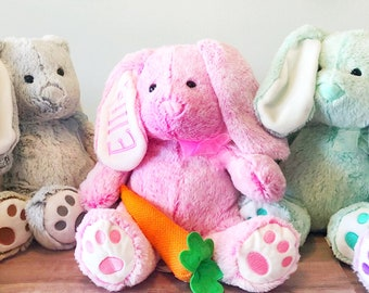 Easter Bunny - Personalized Bunny - Easter Gift - Stuffed Bunny - Bunny Stuffed animal - Easter Gift Idea -stuffed rabbit -Personalized Gift