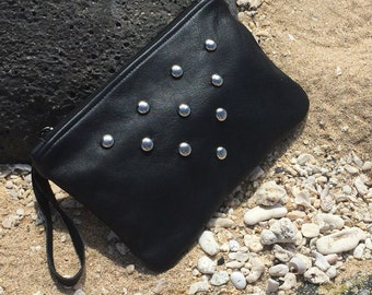 Studded Leather Purse