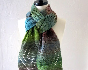 Crochet Pattern ~ Wave Lace Scarf ~ Crochet Pattern