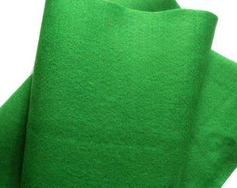 Fieltro de color VERDE, rollo fieltro, Tamaño 25 cm x 90 cm, fieltro muy suave al tacto, fieltro acrilico, fieltro de gran calidad