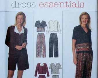 Simplicity 7450 Misses Pants, Shorts, Blouse, Jacket Sewing Pattern New/Uncut Size 8,10,12