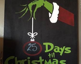 Grinch Countdown to Christmas Chalkboard