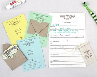 Tooth Fairy Kit  |  Official Tooth Fairy Record, payment, and receipt cards