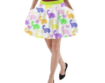 Dino Friend Skirt With Pockets
