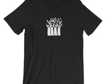 Choir t-shirt with group of people singing logo