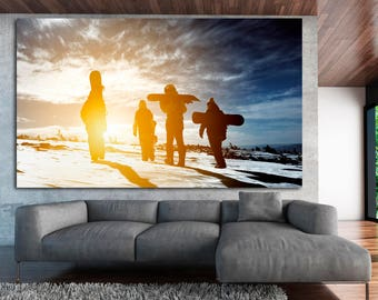 Large Snow Boarding Wall Decor, Snowboarding Wall Art Print, Snowboarder canvas print photography, Snowboard Print Home Decor, Snowboard Art